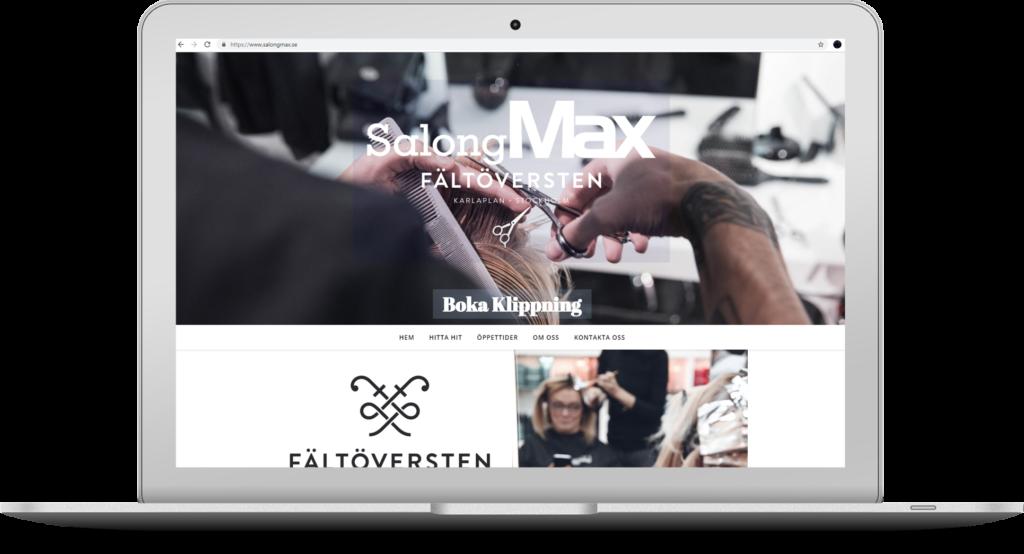 Salong maxs hemsida Salongmax.se